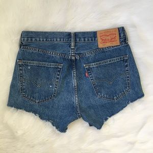 Levi's Shorts - Levi's Distressed High Waisted Cut Off Jean Shorts